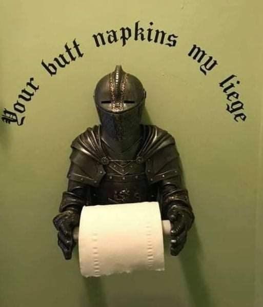 Helmet - butt napkins my liege Ing ano