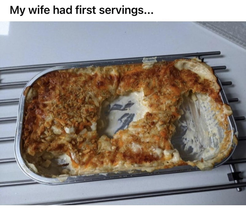 Food - My wife had first servings...