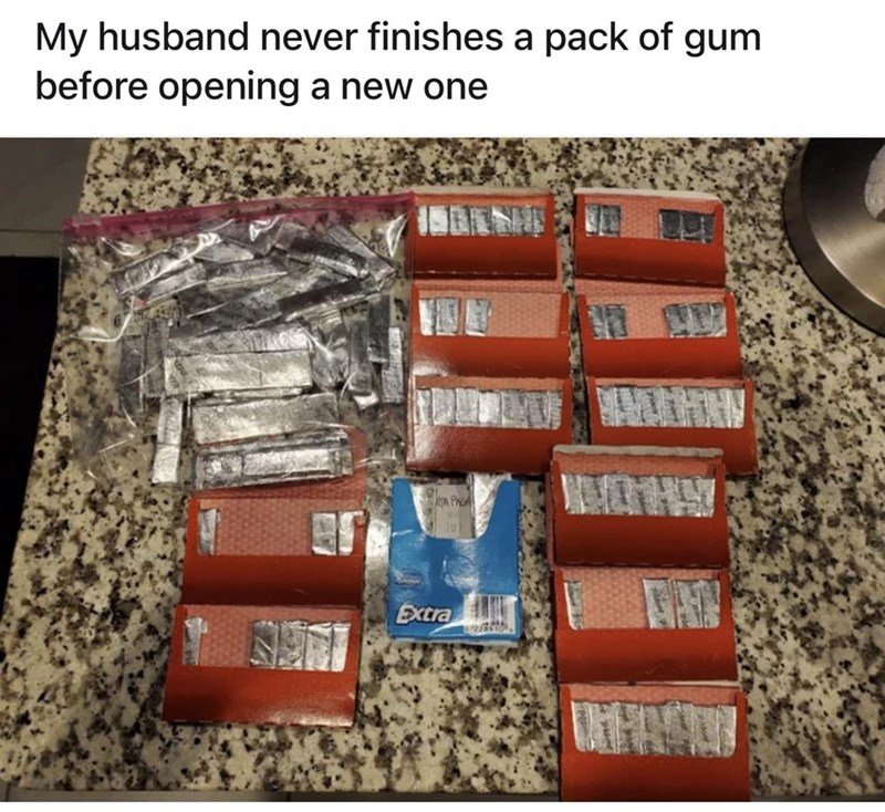 Food - Brown - My husband never finishes a pack of gum before opening a new one TA PAGA Extra
