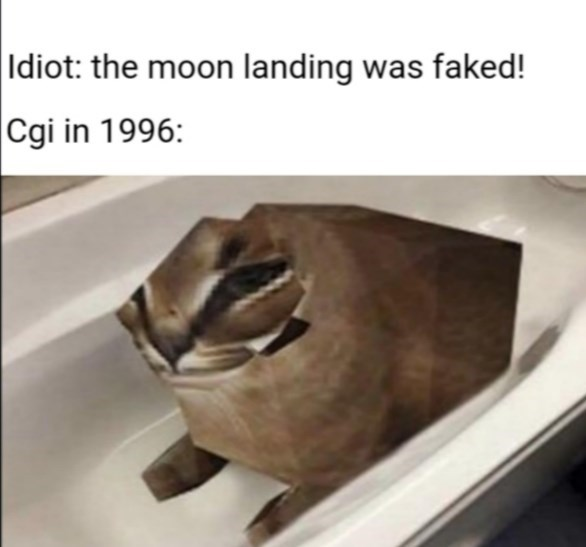 Wood - Idiot: the moon landing was faked! Cgi in 1996: