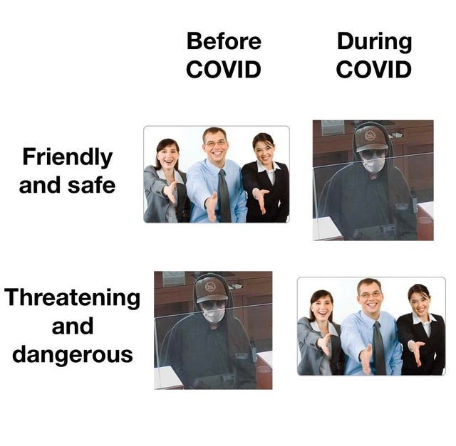 Outerwear - Before During COVID COVID Friendly and safe Threatening and dangerous