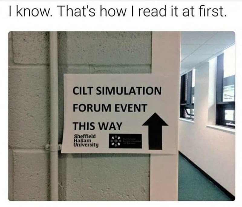 Rectangle - I know. That's how I read it at first. CILT SIMULATION FORUM EVENT THIS WAY Sheffield Hallam University