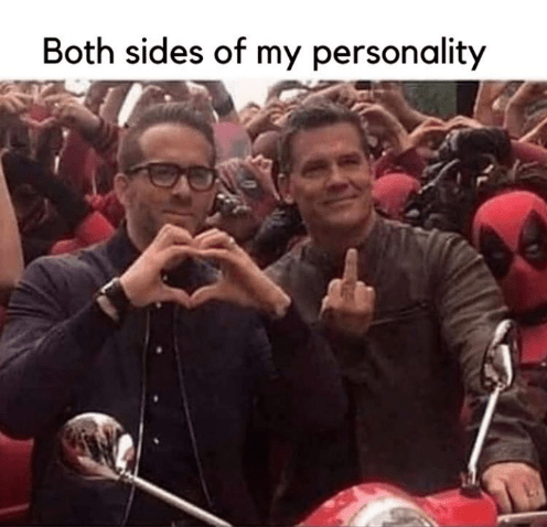Glasses - Both sides of my personality