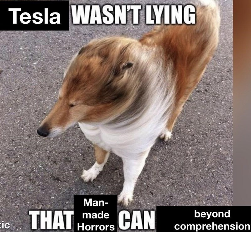 Dog - Tesla WASNT LYING Man- THAT beyond comprehension made Eic Horrors CAN