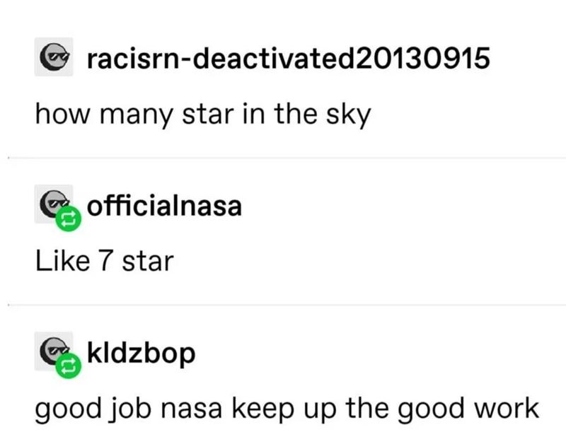 Font - racisrn-deactivated20130915 how many star in the sky officialnasa Like 7 star kldzbop good job nasa keep up the good work