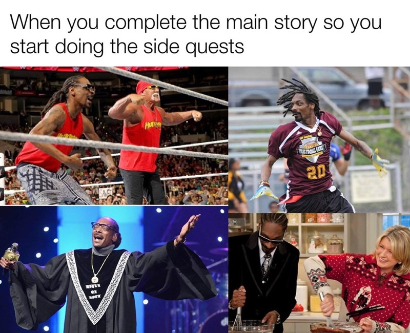 Outerwear - When you complete the main story so you start doing the side quests HO ST A LAG FOO GANE 20 OTE