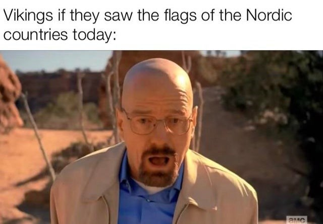Forehead - Vikings if they saw the flags of the Nordic countries today: