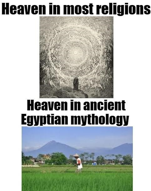 Photograph - Heaven in most religions Heaven in ancient Egyptian mythology