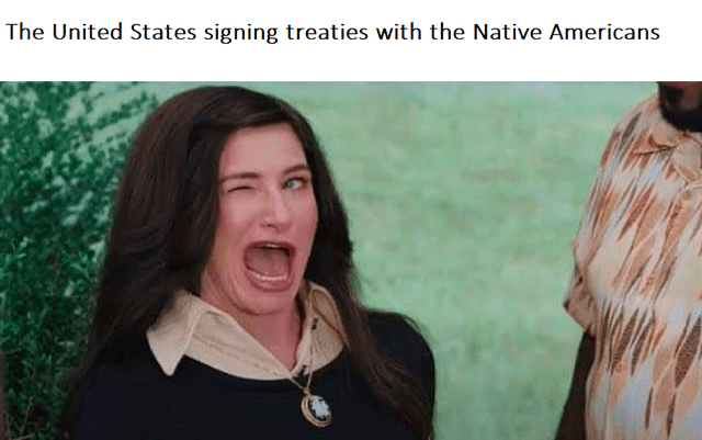 Nose - The United States signing treaties with the Native Americans