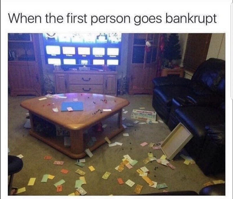 Furniture - When the first person goes bankrupt EA