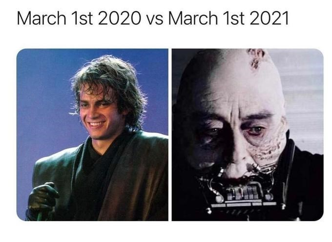 Chin - March 1st 2020 vs March 1st 2021