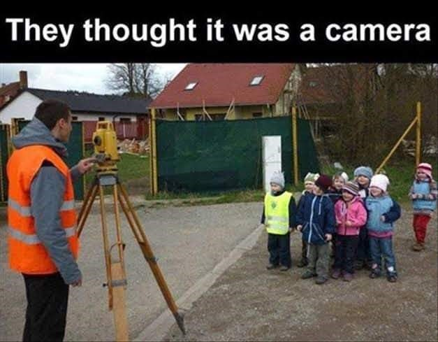 Tripod - They thought it was a camera