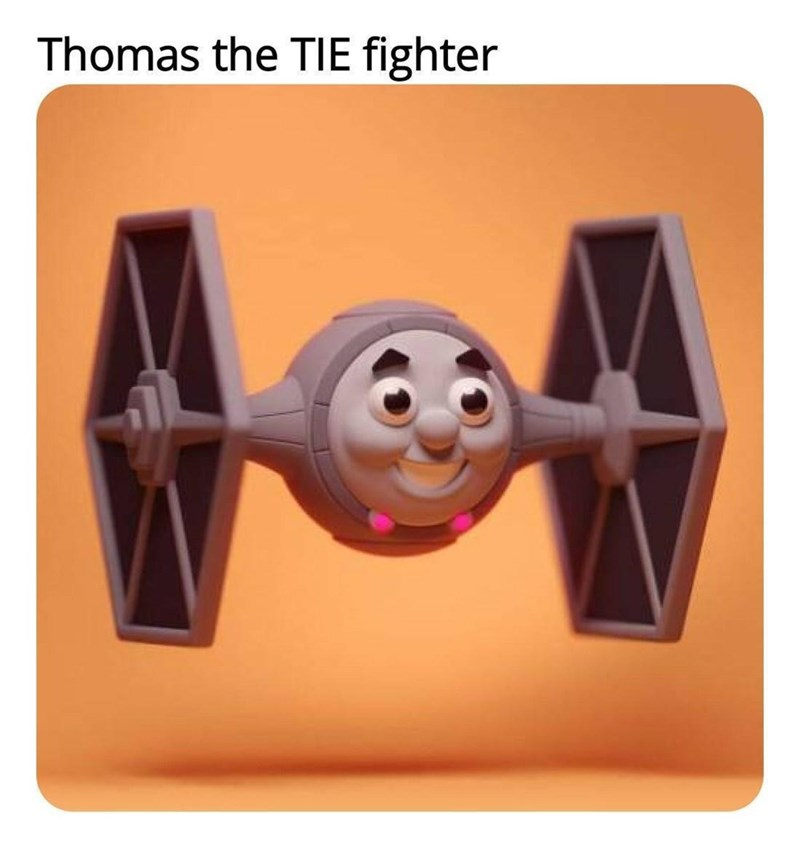 Smile - Thomas the TIE fighter