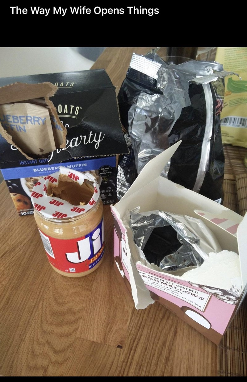 Ingredient - The Way My Wife Opens Things OATS OATS 70000 EBERRY Jearty INSTANT OAT READY IN 2 MINUTES BLUEBERE MUFFIN NONIFRATE ACION. SALT NATURAL&rncu OF YEAST MMONIUM PER POUCH 22 WOIL Dz (428 g) Jie Jie 10క NET WT 18a RK CH OCOLAT RS HM ज् ०] COVERED ALLS 2ark choco late