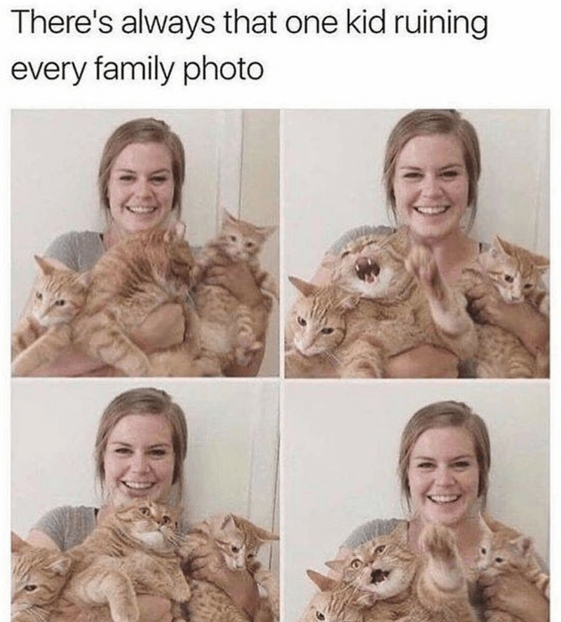 Hair - There's always that one kid ruining every family photo