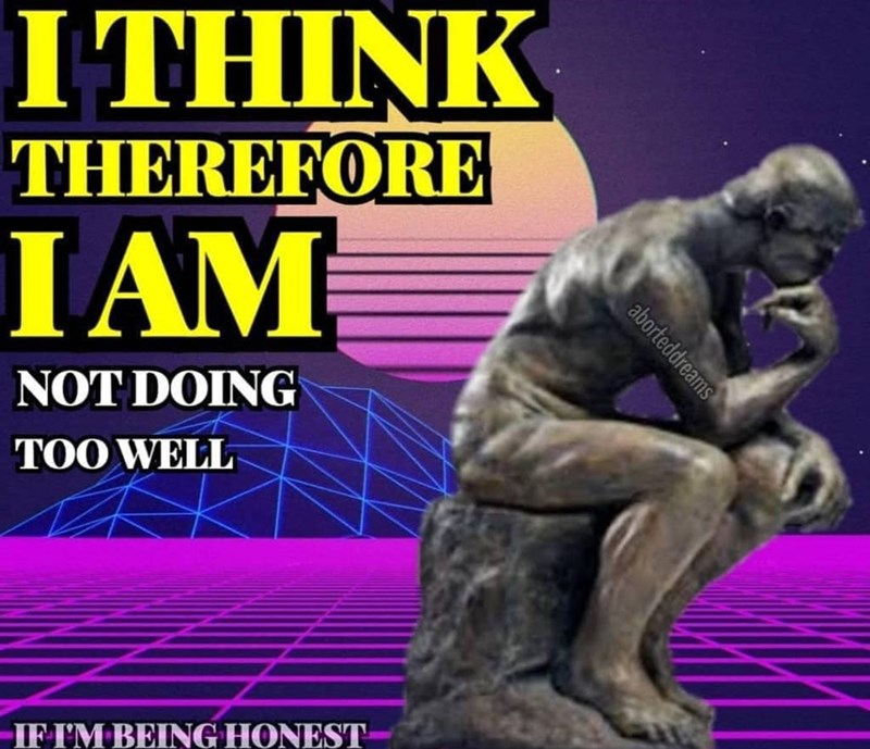 Sculpture - I THINK THEREFORE I AM NOT DOING TOO WELL IF I'M BEING HONEST aborteddreams