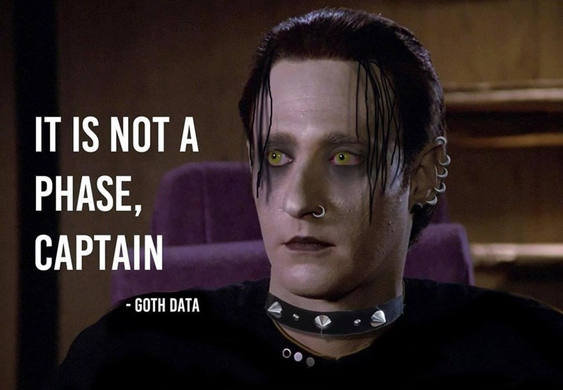 Forehead - IT IS NOT A PHASE, CAPTAIN GOTH DATA