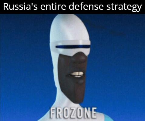 Head - Russia's entire defense strategy FROZONE