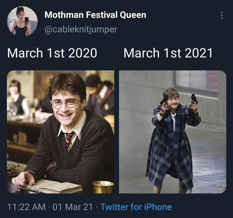 Smile - Mothman Festival Queen @cableknitjumper March 1st 2020 March 1st 2021 11:22 AM · 01 Mar 21 · Twitter for iPhone