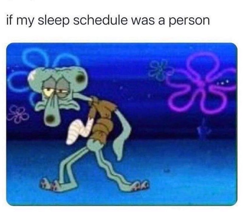 Product - if my sleep schedule was a person