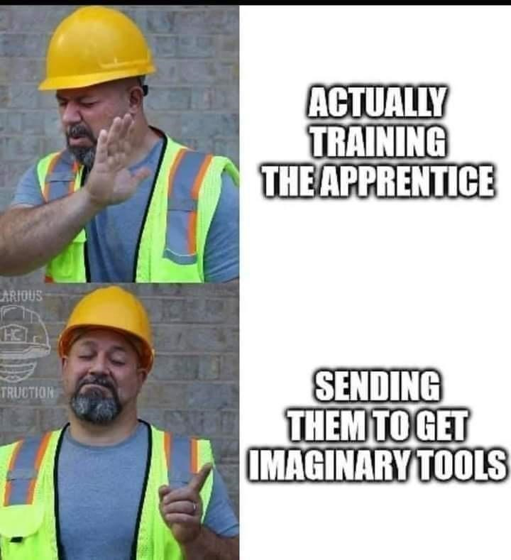 Clothing - ACTUALLY TRAINING THE APPRENTICE CARIOUS SENDING THEM TO GET IMAGINARYTOOLS TRUCTION