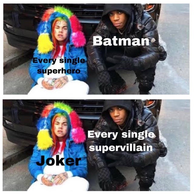 Clothing - Batman Every single superhero Every single supervillain Joker