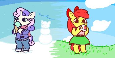 gorby Sweetie Belle apple bloom - 9598438400