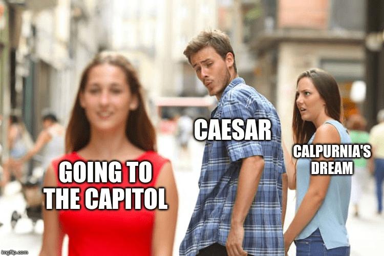 Facial expression - CAESAR CALPURNIA'S DREAM GOING TO THE CAPITOL imgflip.com