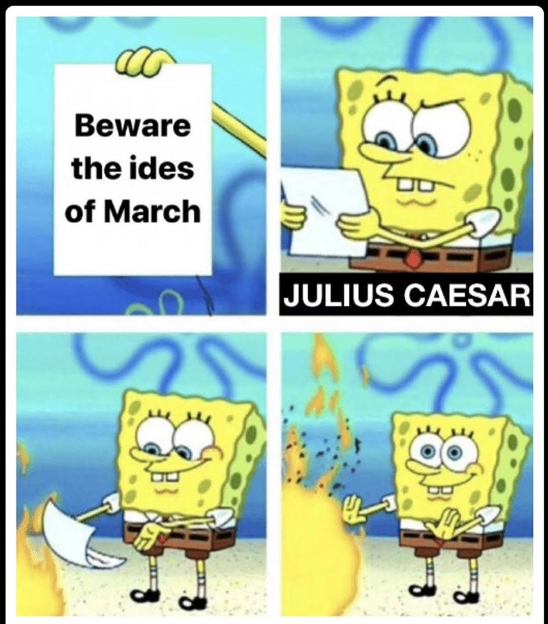 Cartoon - Beware the ides of March JULIUS CAESAR