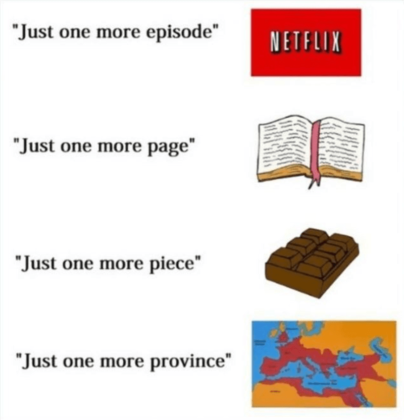 """Rectangle - """"Just one more episode"""" NETFLIX """"Just one more page"""" """"Just one more piece"""" """"Just one more province"""""""