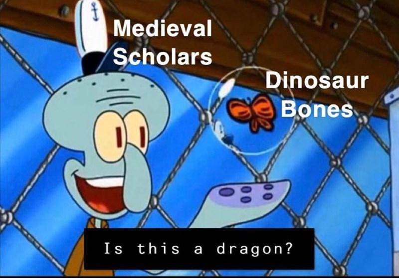 Vertebrate - Medieval Scholars Dinosaur Bones Is this a dragon?