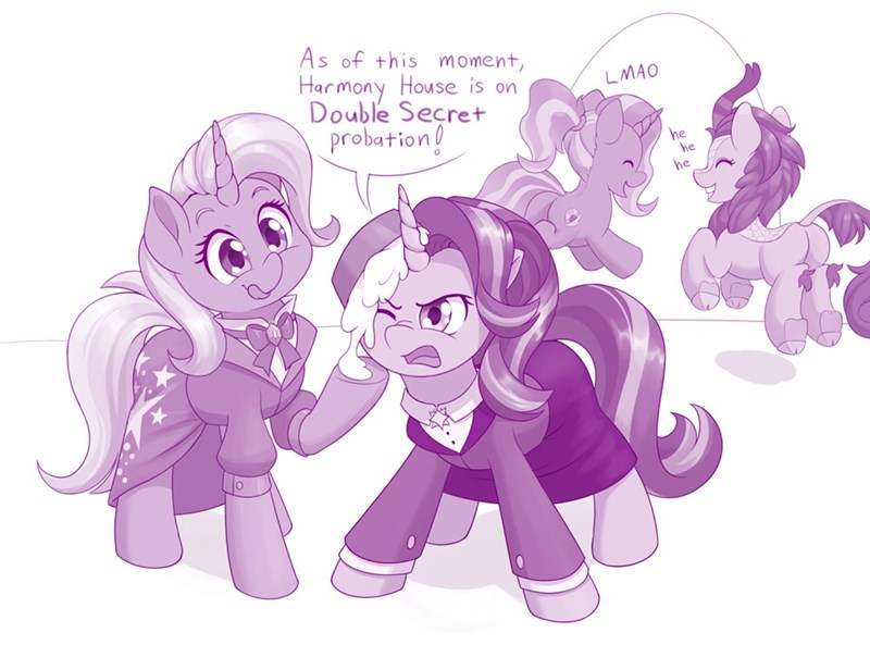dstears the great and powerful trixie animal house starlight glimmer luster dawn kirin ponify - 9599858688
