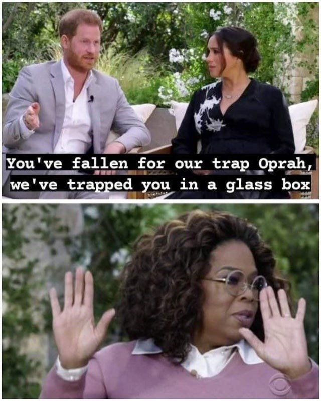 Hair - You've fallen for our trap Oprah, we've trapped you in a glass box