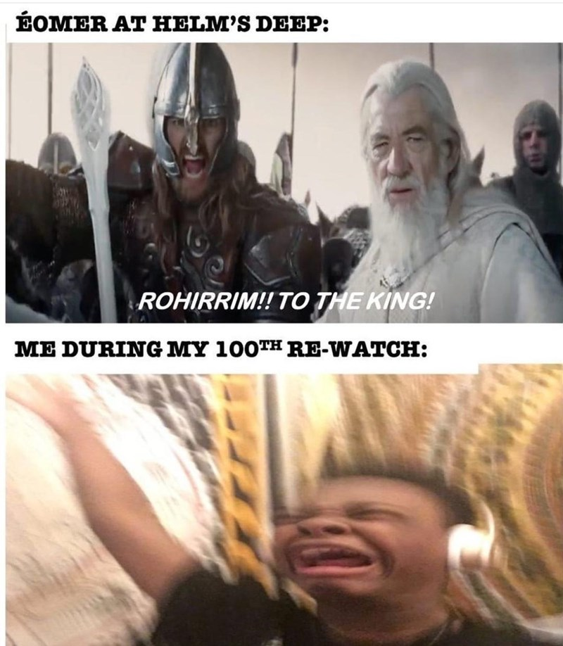 Outerwear - ÉOMER AT HELM'S DEEP: ROHIRRIM!! TO THE KING! ME DURING MY 100TH RE-WATCH: