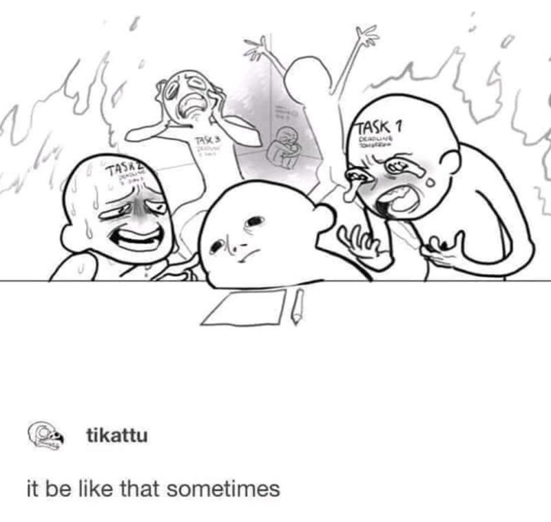 funny memes, memes, relatable memes | tikattu it be like that sometimes tasks