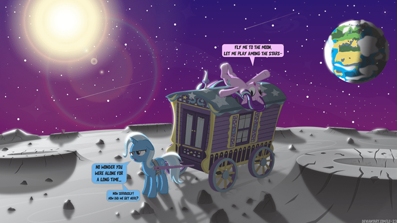 the great and powerful trixie fly me to the moon starlight glimmer le-23 frank sinatra - 9601421568