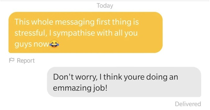 A collection of Tinder users that failed or won with their pickup lines.