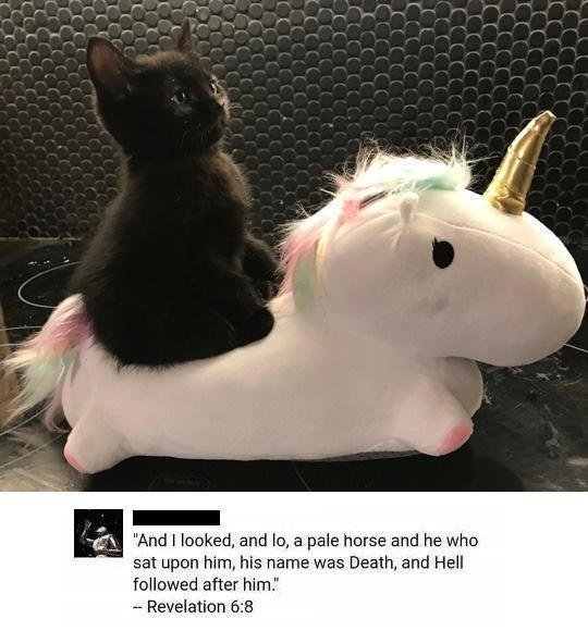 "Toy - ""And I looked, and lo, a pale horse and he who sat upon him, his name was Death, and Hell followed after him."" - Revelation 6:8"