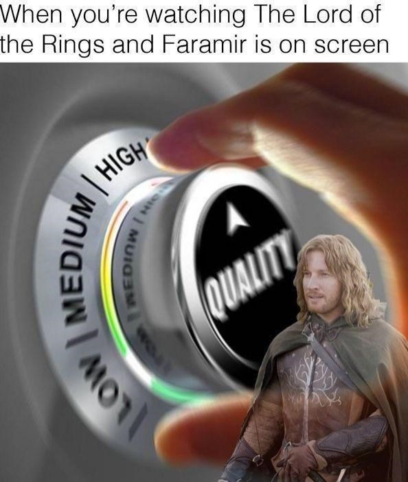 Flash photography - When you're watching The Lord of the Rings and Faramir is on screen HIGH QUALITY LOW Ow MEDIUM WOu