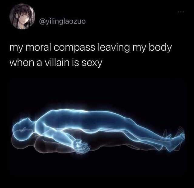 Light - @yilinglaozuo my moral compass leaving my body when a villain is sexy