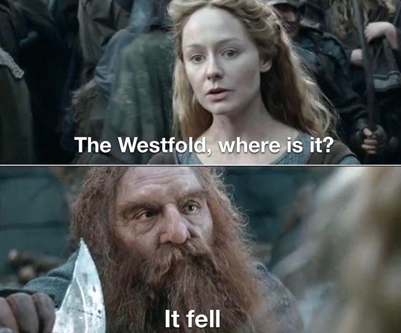 Hair - The Westfold, where is it? It fell
