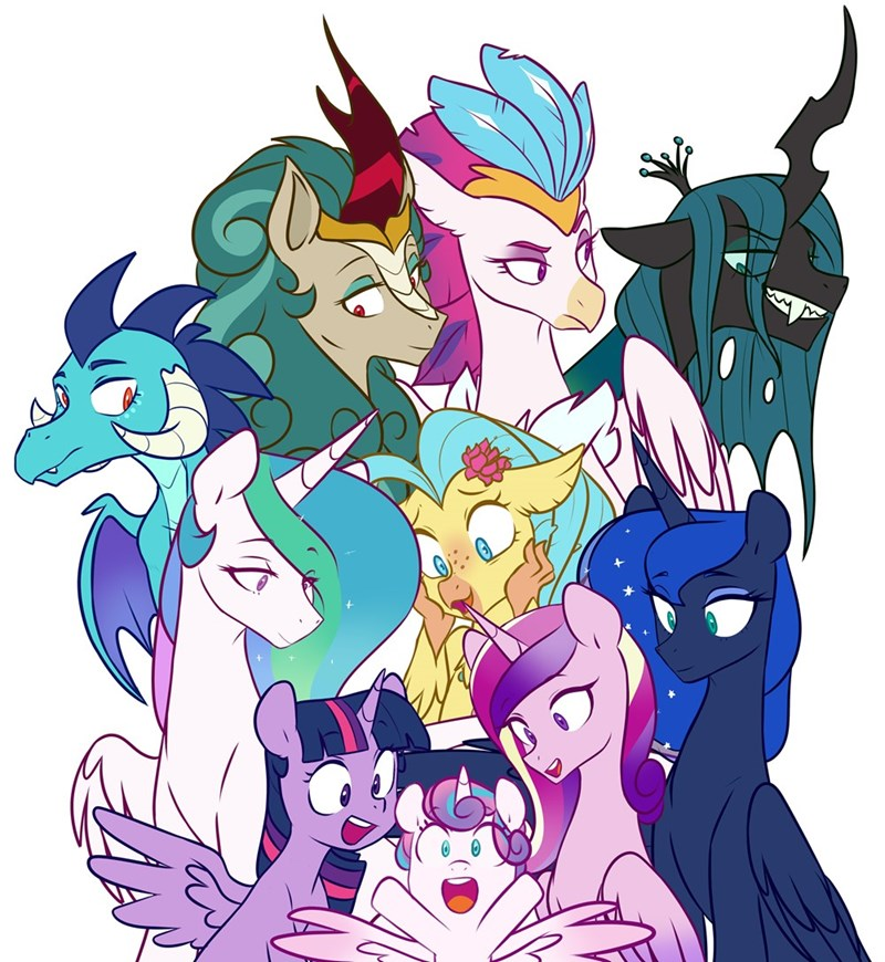 dragon princess skystar princess cadence flurry heart twilight sparkle queen novo princess luna hippogriff kirin chrysalis chub-wub princess celestia rain shine princess ember changelings - 9603374080