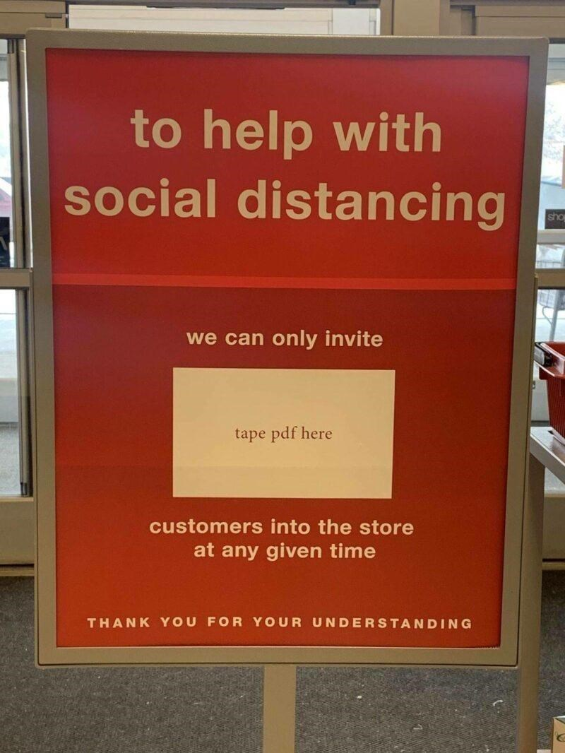 Orange - to help with social distancing sho we can only invite tape pdf here customers into the store at any given time THANK YOU FOR YOUR UNDERSTANDING