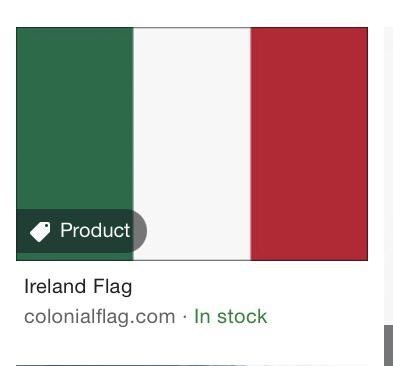 Rectangle - Product Ireland Flag colonialflag.com In stock