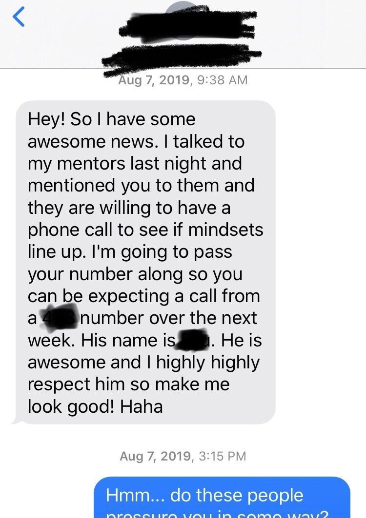Over text a hun calls guy you when What does