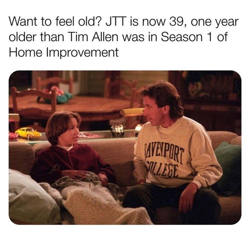 Clothing - Want to feel old? JTT is now 39, one year older than Tim Allen was in Season 1 of Home Improvement AYEIPORT SLLESE