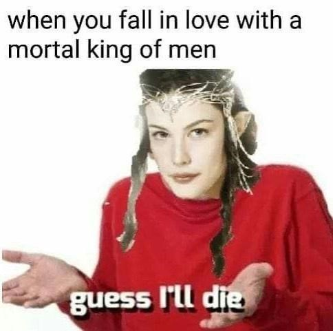 Forehead - when you fall in love with a mortal king of men guess I'll die