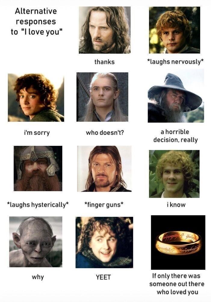"""Hair - Alternative responses to """"I love you"""" thanks *laughs nervously* i'm sorry who doesn't? a horrible decision, really *laughs hysterically* *finger guns* i know why YEET If only there was someone out there who loved you"""