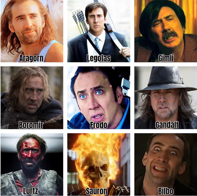 Hair - Aragorn Legolas Gimli Boromir Frodo Gandalf Lurtz Sauron Bilbo