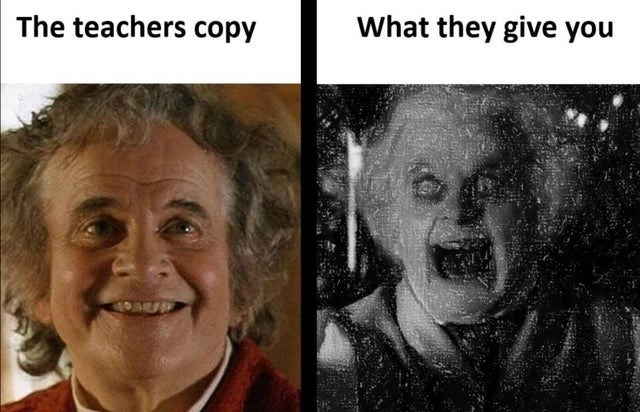Forehead - The teachers copy What they give you